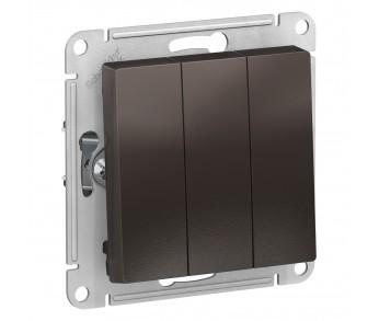 ATLASDESIGN Выключатель 3кл. (сх.3) мокко (10шт/упак)