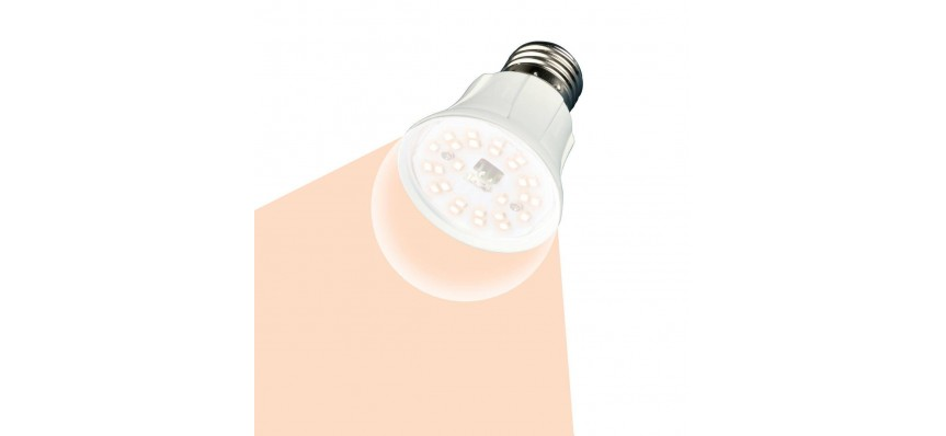 Лампа светодиодная 10Вт Е27 для растений Полного спектра LED-A60-10W/SPFR/E27/CL PLP01WH Uniel
