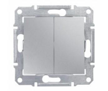 Sedna Выключатель 2кл. алюминий