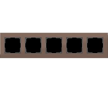 Werkel Рамка на 5 постов коричневый алюминий Aluminium