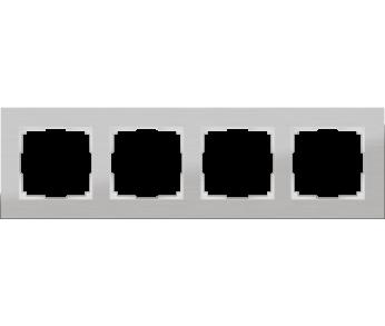 Werkel Рамка на 4 поста алюминий Aluminium