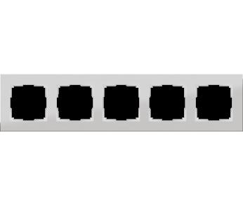 Werkel Рамка на 5 постов алюминий Aluminium