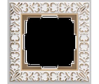 Werkel Рамка на 1 пост белое золото Antik