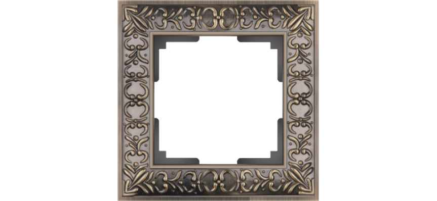 Werkel Рамка на 1 пост бронза Antik