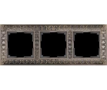 Werkel Рамка на 3 поста бронза Antik