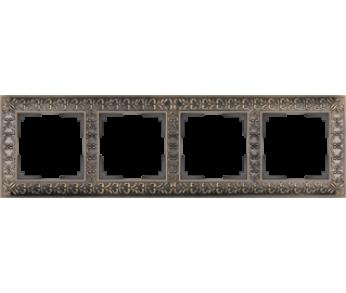 Werkel Рамка на 4 поста бронза Antik