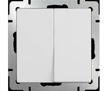 Werkel Выключатель 2-клавишный проходной белый