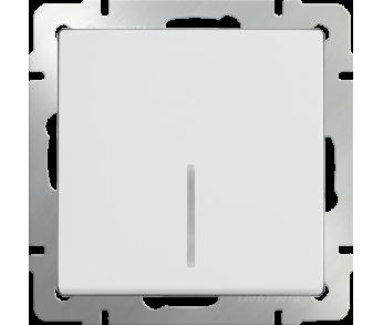 Werkel Выключатель 1-клавишный проходной с подсветкой белый