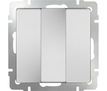 Werkel Выключатель 3-клавишный белый