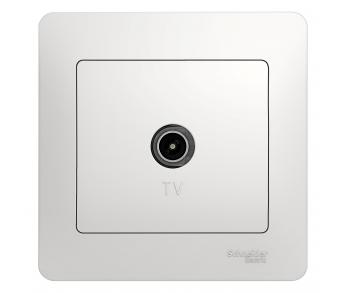 GLOSSA Розетка TV антена коннектор бел. (упак.10шт)
