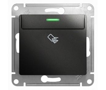 GLOSSA Выключатель карточный антрацит (упак. 20шт.)