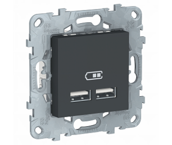GLOSSA Розетка USB 5 В 2100 антрацит