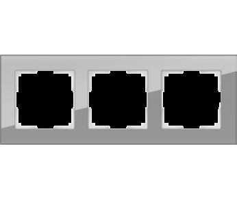 Werkel Рамка на 3 поста серый Favorit