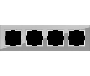 Werkel Рамка на 4 поста серый Favorit
