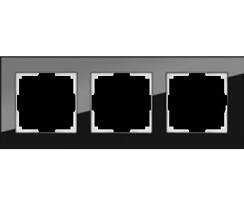Werkel Рамка на 3 поста черный Favorit