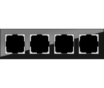 Werkel Рамка на 4 поста черный Favorit