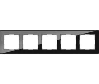 Werkel Рамка на 5 постов черный Favorit
