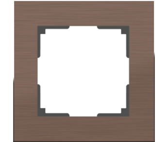 Werkel Рамка на 1 пост коричневый алюминий Aluminium