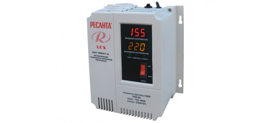 Стабилизатор напряжения ACH-1500 H/1-Ц Lux 63/6/20 Ресанта