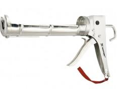 Пистолет для герметика, 310мл. хром. зубчатый шток 7мм MATRIX