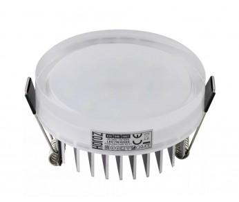 Светильник точечный светодиодный 7W 4200К прозрачный, монтажное D-70мм HOROZ