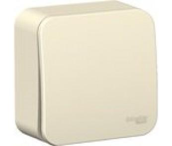 BLANCA Выключатель 1-кл. 6А О/У молочный