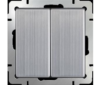 Werkel Выключатель 2-клавишный проходной глянцевый никель