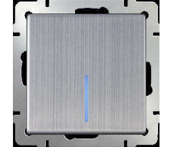 Werkel Выключатель 1-клавишный проходной с подсветкой глянцевый никель