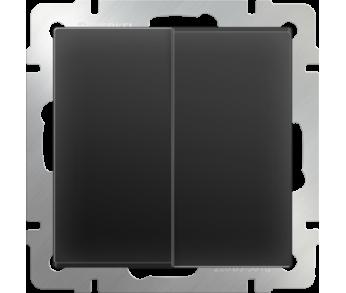 Werkel Выключатель 2-клавишный проходной чёрный