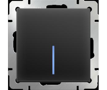 Werkel Выключатель 1-клавишный с подсветкой чёрный
