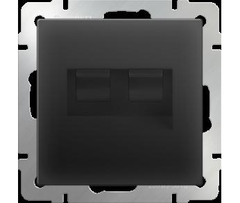 Werkel Розетка телефонная RJ-11 и Ethernet RJ-45 чёрная